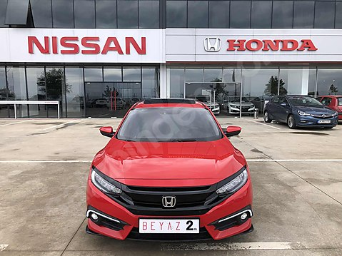 BEYAZ 2.ELDEN 2017 KIRMIZI HONDA CİVİC 1.5 RS 182...