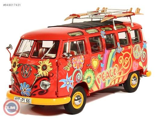 1:18 schuco 1959 vw t1 samba hippie lider modelden at sahibinden