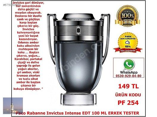 Paco Rabanne Invictus Intense Pf 254 Açiklama Bölümünü Okuyunuz