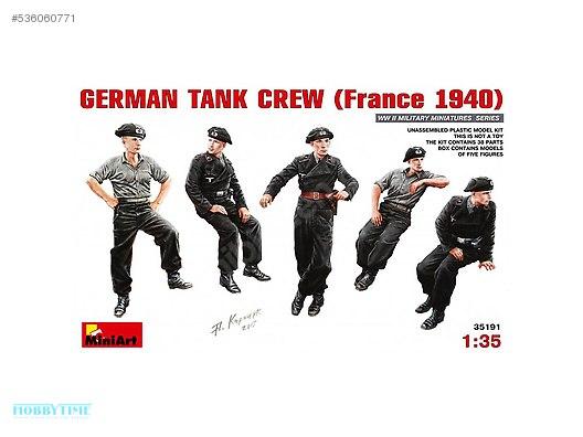 35191 135 German Tank Crew France 1940 Metal Ev Yapı Maket