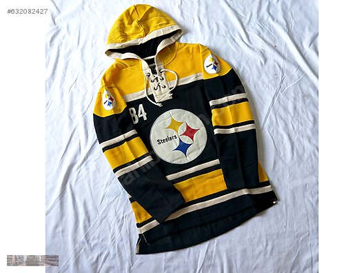 the best attitude 8e322 455c2 nfl player roeth steelers yellow number 7 hoodie sweater jersey