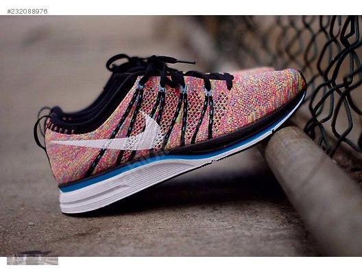 3559b784a290 Nike Flyknit Trainer Multi Color Rainbow Glow Volt 532984 014 at ...