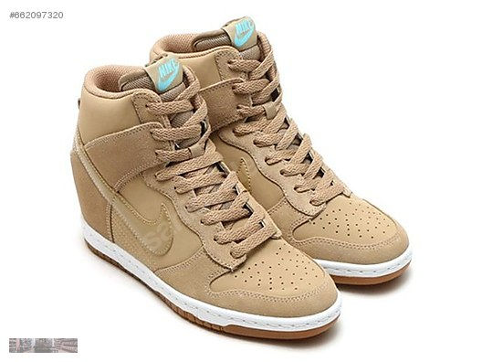 new style ddb73 5a4d5 NIKE WOMENS DUNK SKY HIGH ESSENTIAL DESERT CAMO WEDGE 644877 200