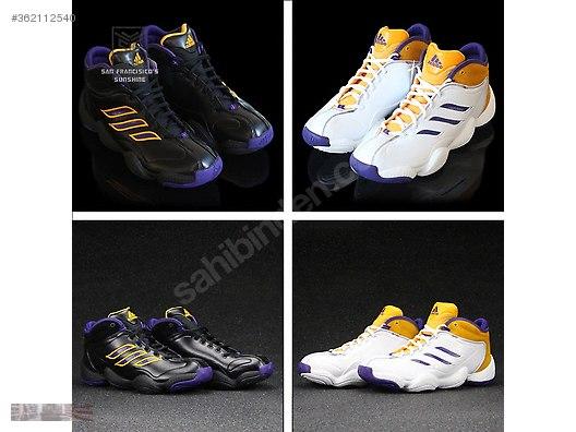 adidas crazy 3 black purple gold basketball shoes