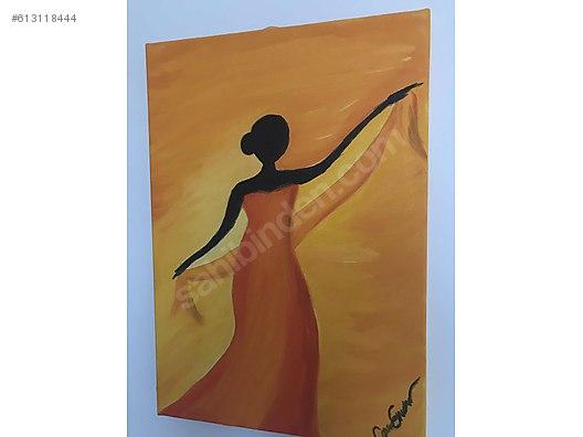 El Yapımı Yağlı Boya Tablo Dans Eden Kadın At Sahibindencom