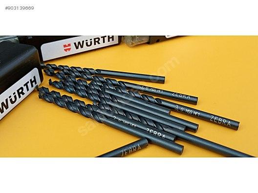 wurth 3 mm hss zebra seri metal ve