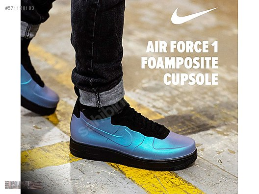 more photos 19799 da8fa nike air force 1 foamposite cup light carbon ah6771 002