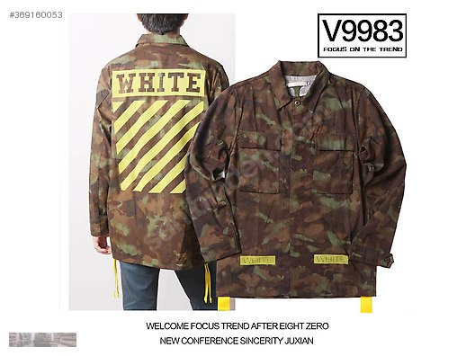 266826994736d Jackets & Coats / OFF WHITE STRIPE FLANNEL M65 TWILL CAMO YELLOW JACKET at  sahibinden.com - 369160053