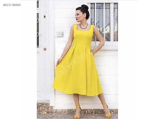 a8f2522ffeffc Pudra pembesi midi boy elbise at sahibinden.com - 623186660