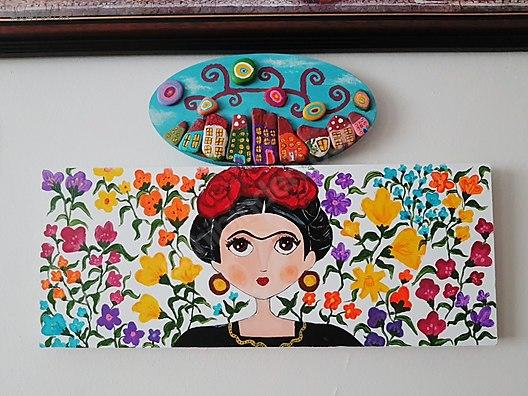 Frida Akrilik Boya El Emeği Tablo Boyama At Sahibindencom 664189783