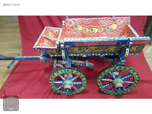 Minyatür At Arabasi El Işi Boyama Mağazadan Ahşap Boyama