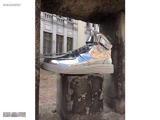 best sneakers 0b267 2e8be NIKE AIR LUNAR FORCE 1 MID SP LIQUID METAL SILVER 652849 092