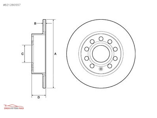 Cars Suvs Engine Audi A3 8p1 Arka Fren Aynasi Disk