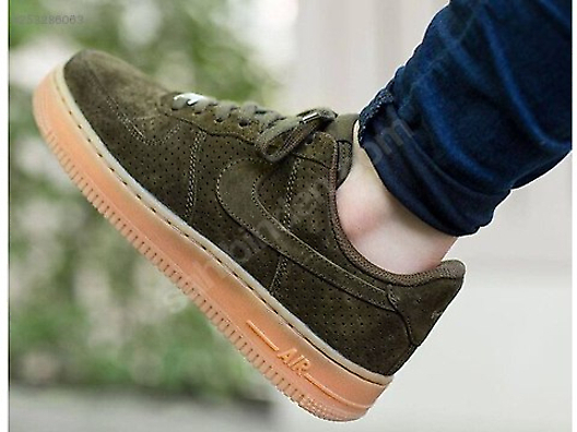 size 40 098f3 e4f21 Casual Shoes / NIKE AIR FORCE 1 07 SUEDE DARK LODEN GREEN ...