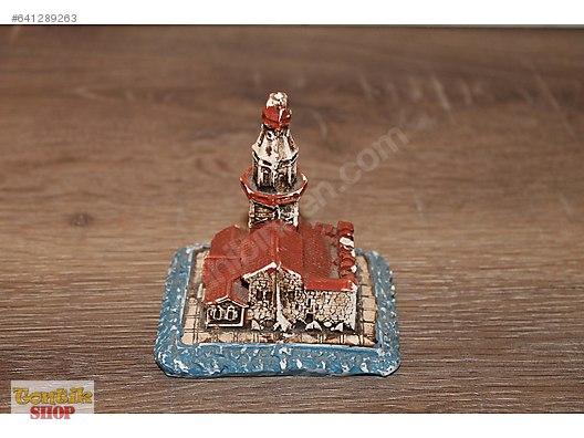Mini Kız Kulesi Biblosu Sert Alçı Malzemeden üretilmişel Boyama