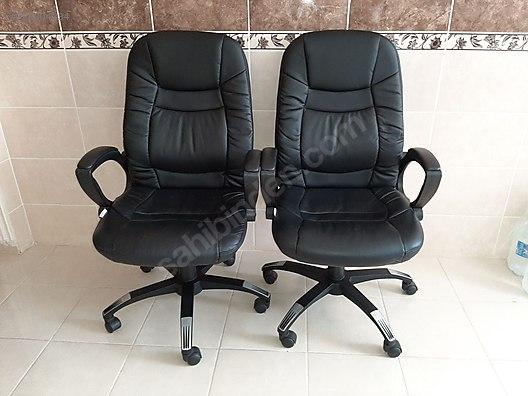 Istikbal Deri Ofis Calisma Sandalyesi Ofis Koltuk Takimi