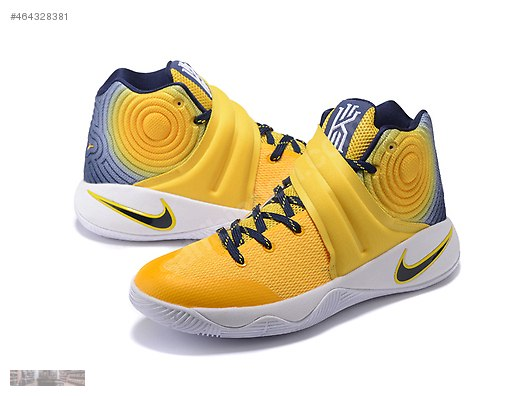 premium selection 72517 ee76d NIKE KYRIE 2 YELLOW NAVY BLUE BASKETBALL SHOES 852417 013 ...