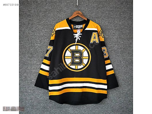 wholesale dealer 1cf8f 72220 reebok nhl boston bruins bear bergeron jersey in black yellow