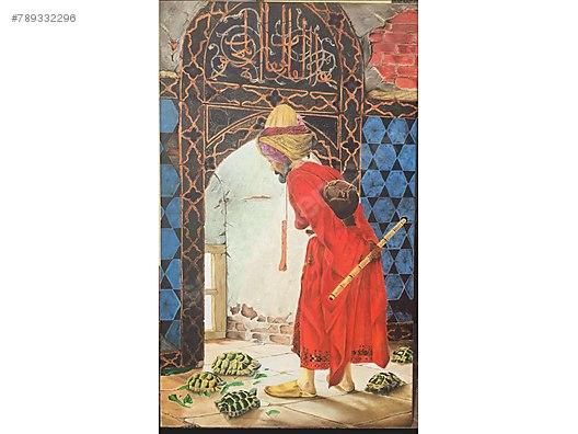 Kaplumbaga Terbiyecisi Osman Hamdi Yagli Boya Tablosu