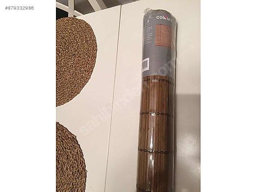 ahsap gorunumlu bambu stor jaluzi