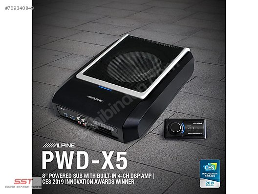 ALPINE PWD X5 ACTIVE SUBWOOFER + 4-CHANNEL AMP + DSP