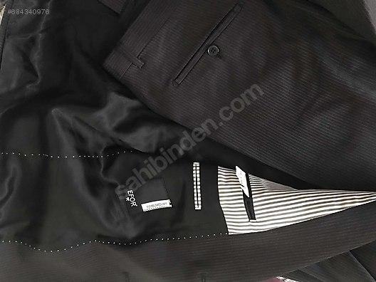 98739511c57bb İkinci El ve Sıfır Alışveriş / Giyim & Aksesuar / Erkek / Giyim / Takım  Elbise Efor siyah ceket ...