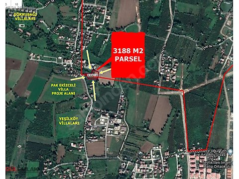 ARAPÇİFTLİĞİNDE VİLLA SİTESİ İÇİN NET 3188 m² ARSA
