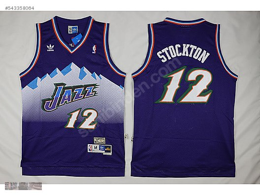 4e0de99b1c6 adidas utah jazz 12 john stockton purple retro basketball jersey