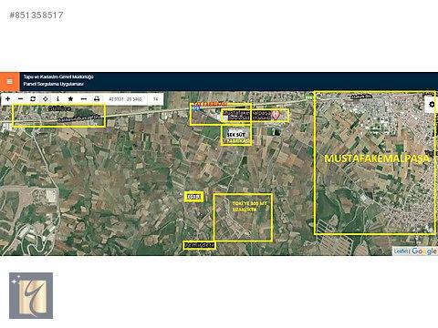 Bursa Mustafakemalpaşa Demirdere Yatırımlık Tarla