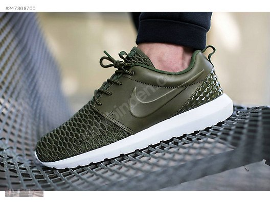 nike roshe run flyknit premium rough green black sequoia 746825 9fbd7200e