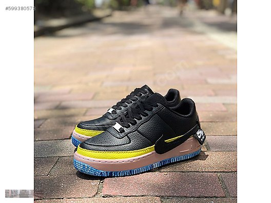 newest 056c5 d95ce nike wmns air force1 jester xx se black sonic yellow at2497 001
