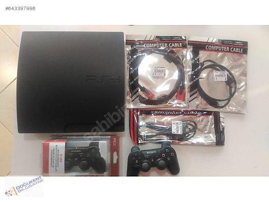 PS3 SLİM 160GB HDD, 2 KOL, ŞEÇMELİ FULL OYUN, 3 AY GARANTİ OYUN