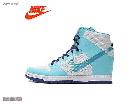 nike womens dunk sky high sky blue inner wedge shoes 725069 104 a16e8a673