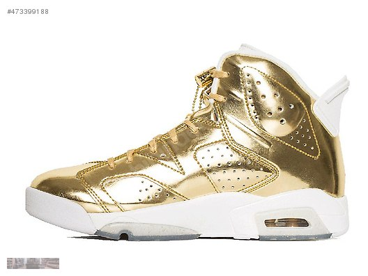 f88251897e4 NIKE AIR JORDAN 6 RETRO PINNACLE METALLIC GOLD WHITE 854271 730