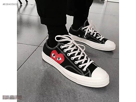 9f92ba1f15bb CONVERSE COMME DES GARCONS LOW ALL STAR CDG PLAY SNEAKER 150206C