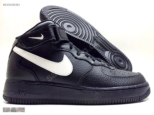 NIKE AIR FORCE 1 MID 07 BLACK SAIL WHITE 315123 043 at ... 8970bbcc7e