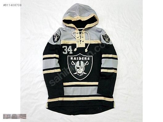 buy online 83039 6a1e5 RAIDERS 34 JACKSON NFL RUGBY HOODIE SWEATSHIRT ...