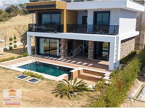 Müstakil villa4+1deniz manzaralı240m²özel havuzlu...