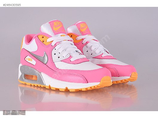 best sneakers c6cf7 e5d9f NIKE AIR MAX 90 2007 WHITE METALLIC SILVER PINK GLOW 345017 120