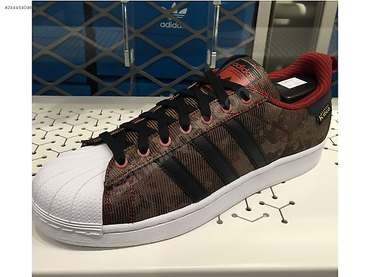 El Athletic & Outdoor / Adidas Originals Superstar Marrón Camo negro rojo