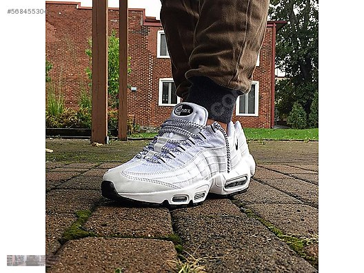 new style 6648c 1c38d NIKE AIR MAX 95 WHITE BLACK OREO CROSS TRAINER 609048 109 BEYAZ