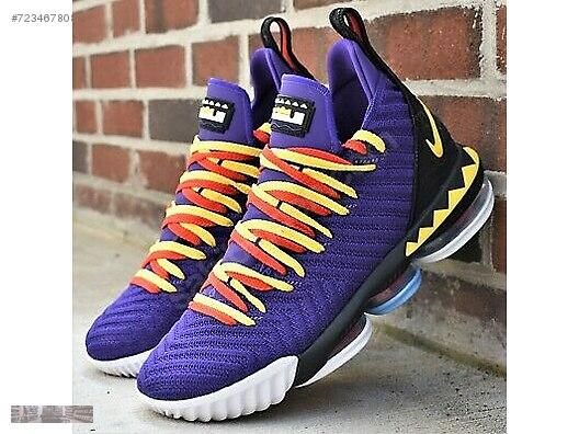 low priced 6cec9 6a3e4 nike lebron 16 martin purple lakers basketball shoes ci1520 500