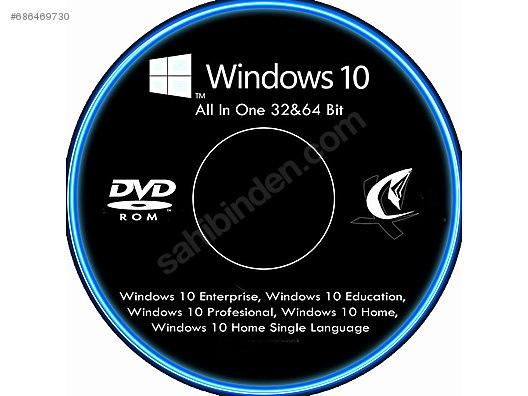 WINDOWS 10 FORMAT DVD'SI 64 BİT at sahibinden com