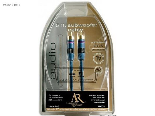 Acoustic Research Performance Series 15ft Subwoofer Cable at