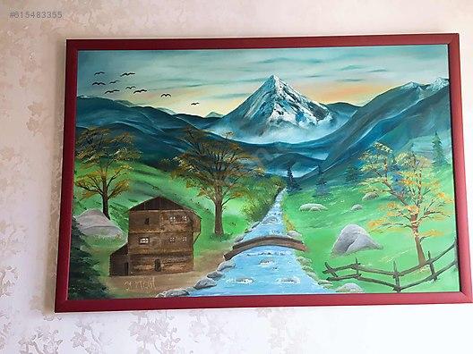 Yağlı Boya Doğa Manzarası El Işi Sanat Sahibindencomda 615483355