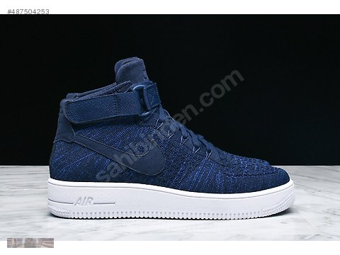 849e2e9d77cbb NIKE AIR FORCE ONE 1 ULTRA FLYKNIT MID COLLEGE NAVY 817420 401 at  sahibinden.com - 487504253