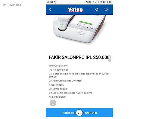 Acill Yari Fiyatina Fakir Salonpro Ipl 250 000 Lazer