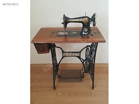 antika singer dikis makinesi 100 yillik