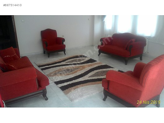 Living Room Furniture Tertemiz Koltuk Takimi Bordo Renkli
