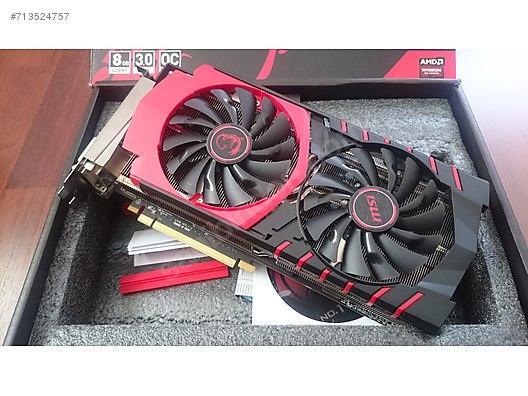 MSI R9 390 GAMING 8GB GDDR5 512Bit AMD Radeon DX12 Ekran